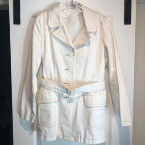 Old Navy White Trench Coat